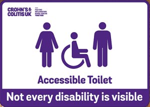 Inclusive design in wayfinding - the accessible toilet sign developed by Crohn's & Colitis UK