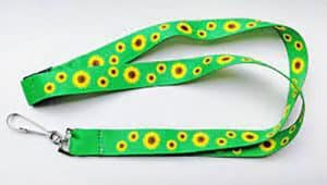 The sunflower lanyard is designed to be a discrete sign that the wearer has a hidden disability