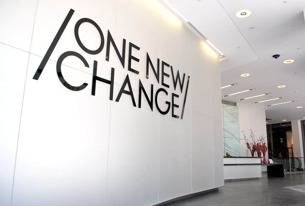 One New Change Reception graphics