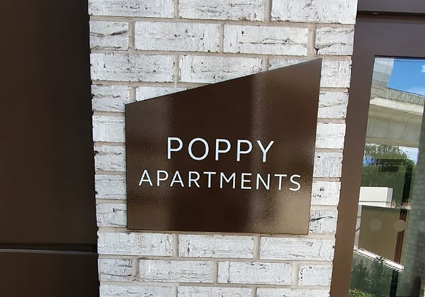 Apartment identity sign