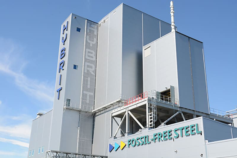 SSAB's fossil fuel free steel plant using HYBRIT technology