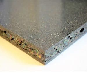 Board made from recycled plastic
