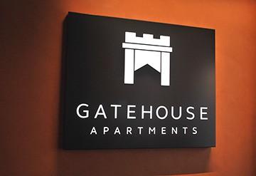 Gateway Apartments, Southampton - reception sign
